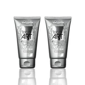 L'Oréal Professionnel Tecni Art Glue Gel 2τμχ l or al professionnel   styling   ατημέλητη εμφάνιση   l oreal professionnel off