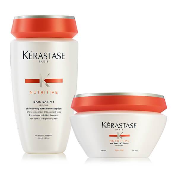 Kérastase NUTRITIVE OFFER(BAIN SATIN 1 250ML+MASQUINTENSE FINS/ΛΕΠΤΑ 200ML) christmas offers   k rastase   nutritive   περιποίηση   ξηρά και ευαισθητοποιημέ