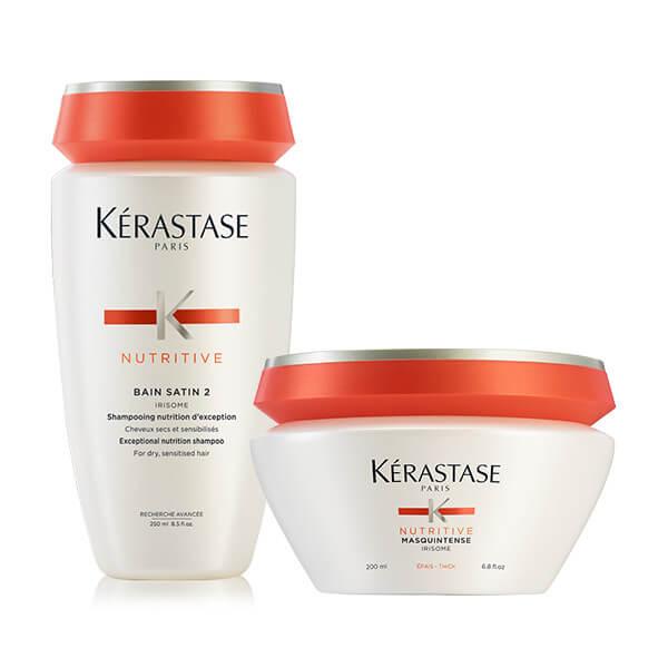 Kérastase NUTRITIVE OFFER(BAIN SATIN 2 250ML + MASQUINTENSE EPAIS/ΧΟΝΔΡΑ 200ML) k rastase   nutritive   περιποίηση   ξηρά και ευαισθητοποιημένα μαλλιά μπούκλες
