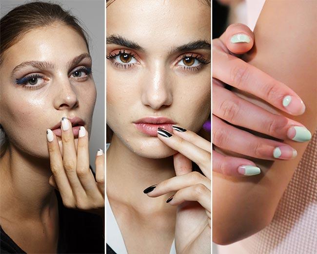 στρόγγυλα νύχια - almond nails