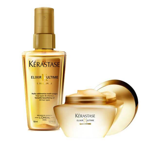 KERASTASE ELIXIR ULTIME OFFER(ΜΑΣΚΑ 200ML+ΛΑΔΙ 50ML) k rastase   elixir ultime   περιποίηση   για όλους τους τύπους μαλλιών θρέψη και