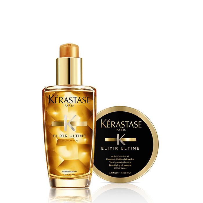 KERASTASE ELIXIR ULTIME OFFER (ΕΛΑΙΟ 100ML+μασκα 75ml) k rastase   elixir ultime   περιποίηση   για όλους τους τύπους μαλλιών θρέψη και