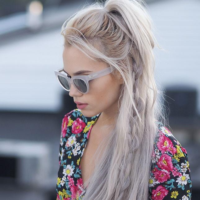 Χτενίσματα για το Πάσχα braided hair half