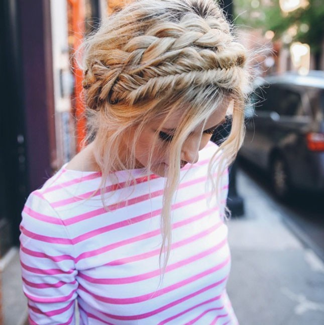 Χτενίσματα για το Πάσχα braided headband