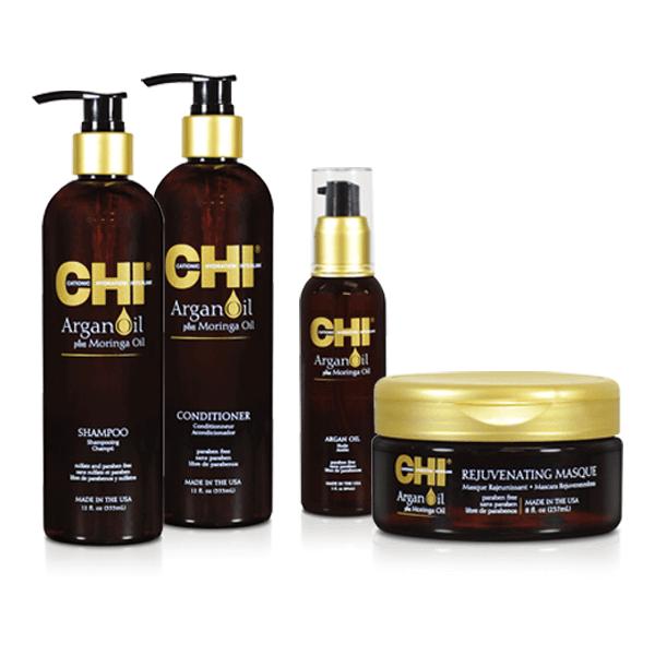 Chi Argan Oil Offer (Shampoo 355ml+ Conditioner 355ml+Masque 237ml+Argan Oil 89m chi   περιποιηση   για ξηρά και ταλαιπωρημένα μαλλιά   argan oil