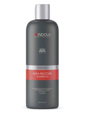 INNOVA Kera Restore Shampoo 300ml indola   περιποιηση   ταλαιπωρημένα εξασθενημένα μαλλιά   kera restore