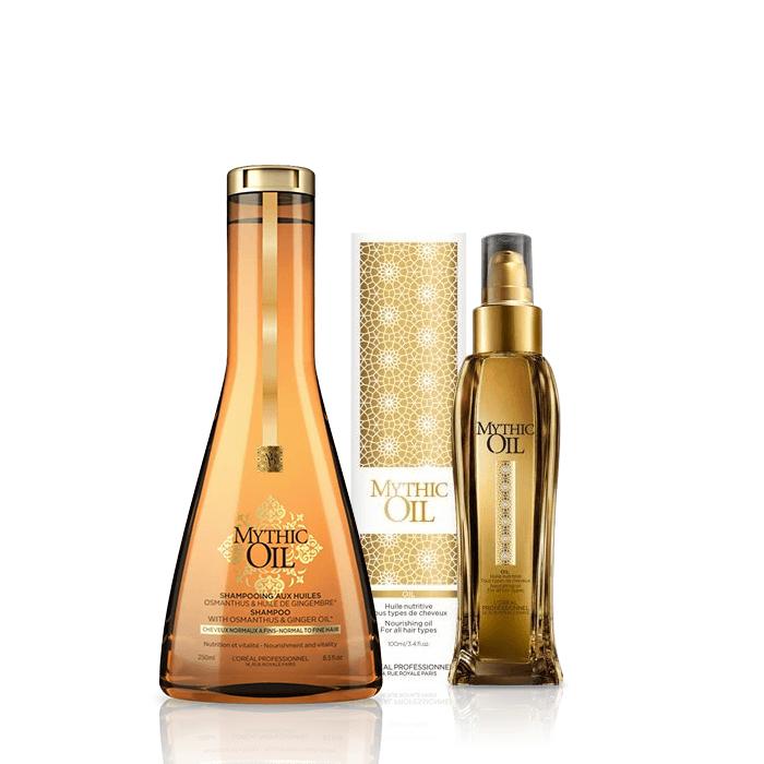 L'Oréal Professionnel Mythic Oil Offer ( Σαμπουάν για κανονικά προς λεπτά μαλλιά l or al professionnel   περιποιηση   για όλους τους τύπους μαλλιών   λεπτά χωρίς