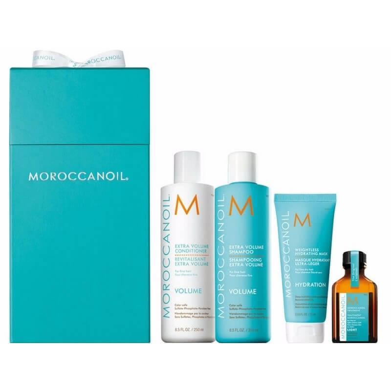 Moroccanoil Offer (Volume Shampoo 250ml, Volume Conditioner 250ml, Weightless Hy περιποιηση   christmas offers   λεπτά μαλλιά   moroccanoil