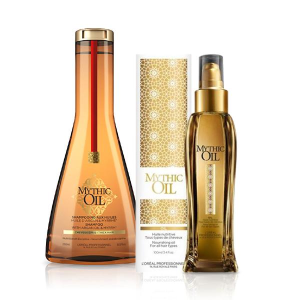 L'Oréal Professionnel Mythic Oil Offer ( Σαμπουάν Για Χοντρά Μαλλιά 250ml + Έλαι l or al professionnel   περιποιηση   για όλους τους τύπους μαλλιών   χοντρά μαλλ