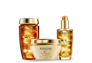 KERASTASE ELIXIR ULTIME OFFER (ΣΑΜΠΟΥΑΝ 250ML + ΜΑΣΚΑ 200ML+ ΕΛΑΙΟ 100ML)ΓΙΑ ΟΛΟ k rastase   elixir ultime   περιποίηση   για όλους τους τύπους μαλλιών θρέψη και