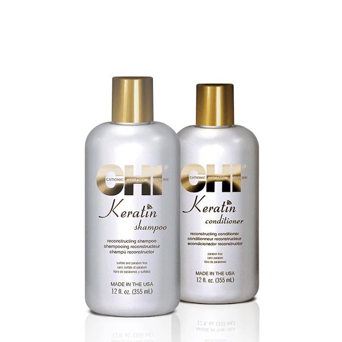 chi keratin offer ( shampoo 355ml + conditioner 355ml) chi   περιποιηση   αναδόμηση επανόρθωση   keratin