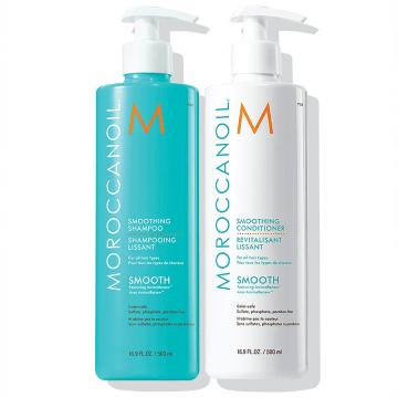 Moroccanoil Smoothing Shampoo & Conditioner Duo 500ml moroccanoil   περιποιηση   για όλους τους τύπους μαλλιών