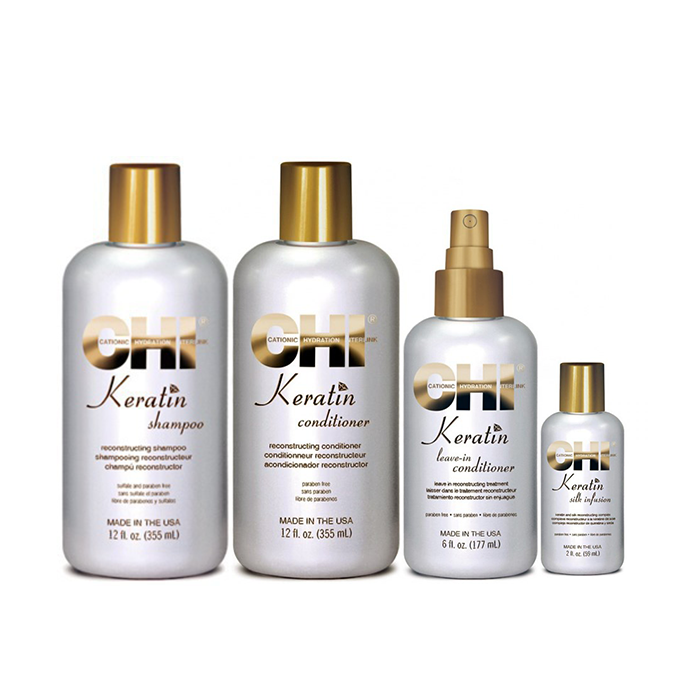 chi keratin offer ( shampoo 355ml + conditioner 355ml +leave -in 177ml +silk inf chi   περιποιηση   αναδόμηση επανόρθωση   keratin