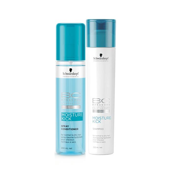 Schwarzkopf BC Moisture Kick OFFER ( Spray Conditioner 200ml+Shampoo 250ml) schwarzkopf   περιποιηση   κανονικά έως ξηρά μαλλιά σγουρά   bc moisture kick