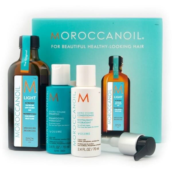 Moroccanoil Volume Mini Box (Oil Light Treatment 100ml,Shampoo 70ml,Conditioner  christmas offers   moroccanoil   περιποιηση   λεπτά μαλλιά