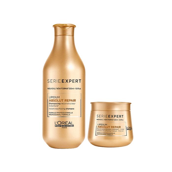 L'Oréal Professionnel Absolut Repair Lipidium Σαμπουάν 300ml+Μάσκα 250ml christmas offers   l or al professionnel   περιποιηση   για ευαισθητοποιημένα μα