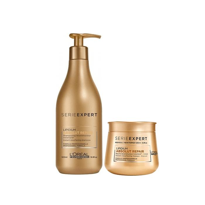 L'Oréal Professionnel Absolut Repair Lipidium Σαμπουάν 500ml+Μάσκα 250ml l or al professionnel   περιποιηση   για ευαισθητοποιημένα μαλλιά αναδόμηση   l