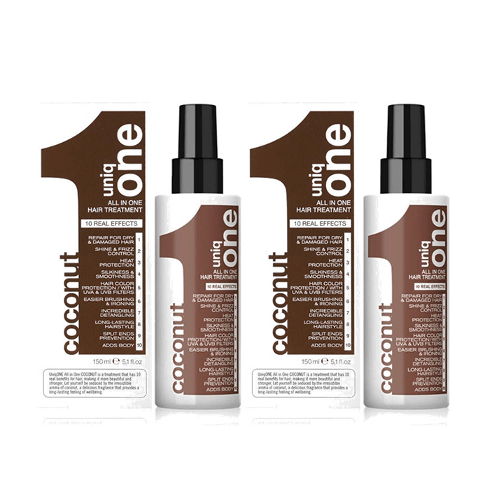 REVLON UNIQ ONE All in One HAIR TREATMENT COCONUT EDITION 2X150ML christmas offers   uniq one revlon   περιποίηση