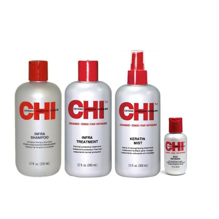 chi infra kit offer ( shampoo 355ml + Treatment 355ml + keratin mist 355ml +silk chi   περιποιηση   αναδόμηση επανόρθωση   για όλους τους τύπους μαλλιών   infra