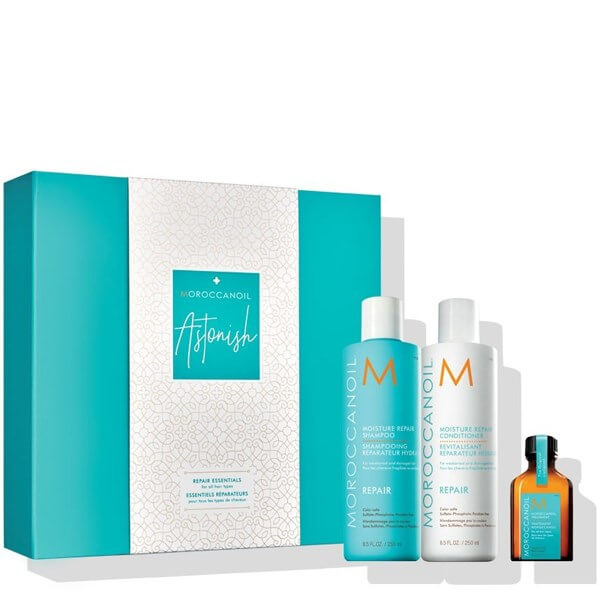 Moroccanoil Repair Astonish Set (REPAIR SHAMPOO 250ML+ REPAIR Conditioner 250ML  christmas offers   moroccanoil   περιποιηση   ξηρά κατεστραμένα μαλλιά αναδόμηση