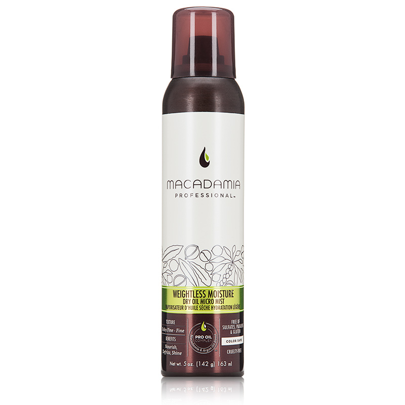 macadamia professional Weightless Moisture Dry Oil Micro Mist 163ml macadamia   professional weightless   περιποίηση   λεπτά μαλλιά