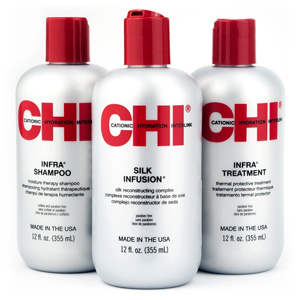 Chi infra offer ( Infra shampoo 355ml + infra treatment 355ml + silk  infusion 355ml) 09e0a702bae
