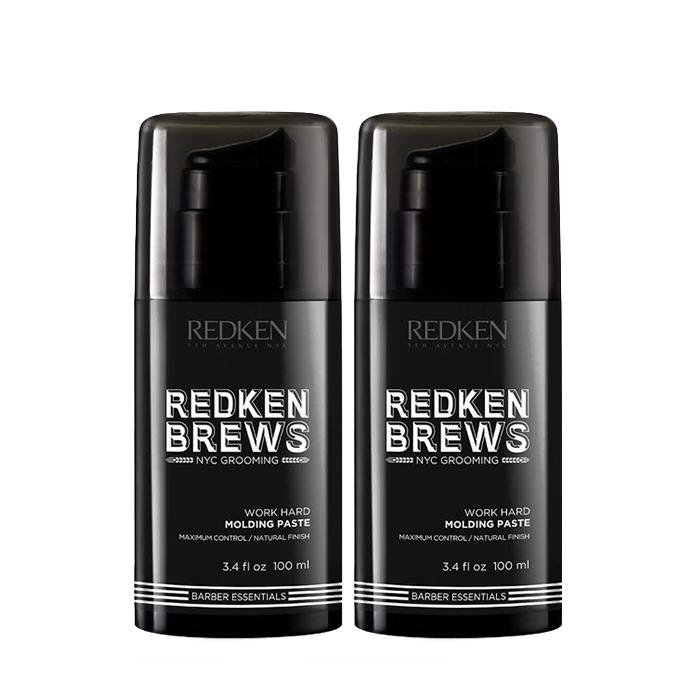 Redken Brews Work Hard Molding Paste 100Ml 2ΤΜΧ
