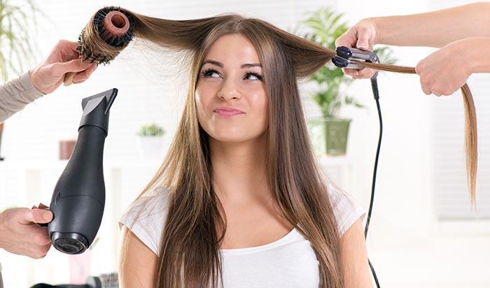 hair styling - μήκος μαλλιών