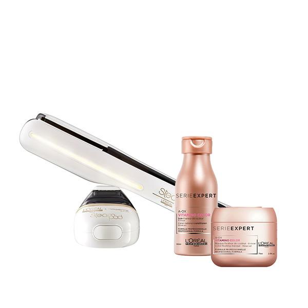 L'Oréal Professionnel &Amp; Rowenta Salon Steam Pod V2 &Amp; Vitamino Color Travel Size(Σαμπουάν 100Ml+Μάσκα 75Ml)