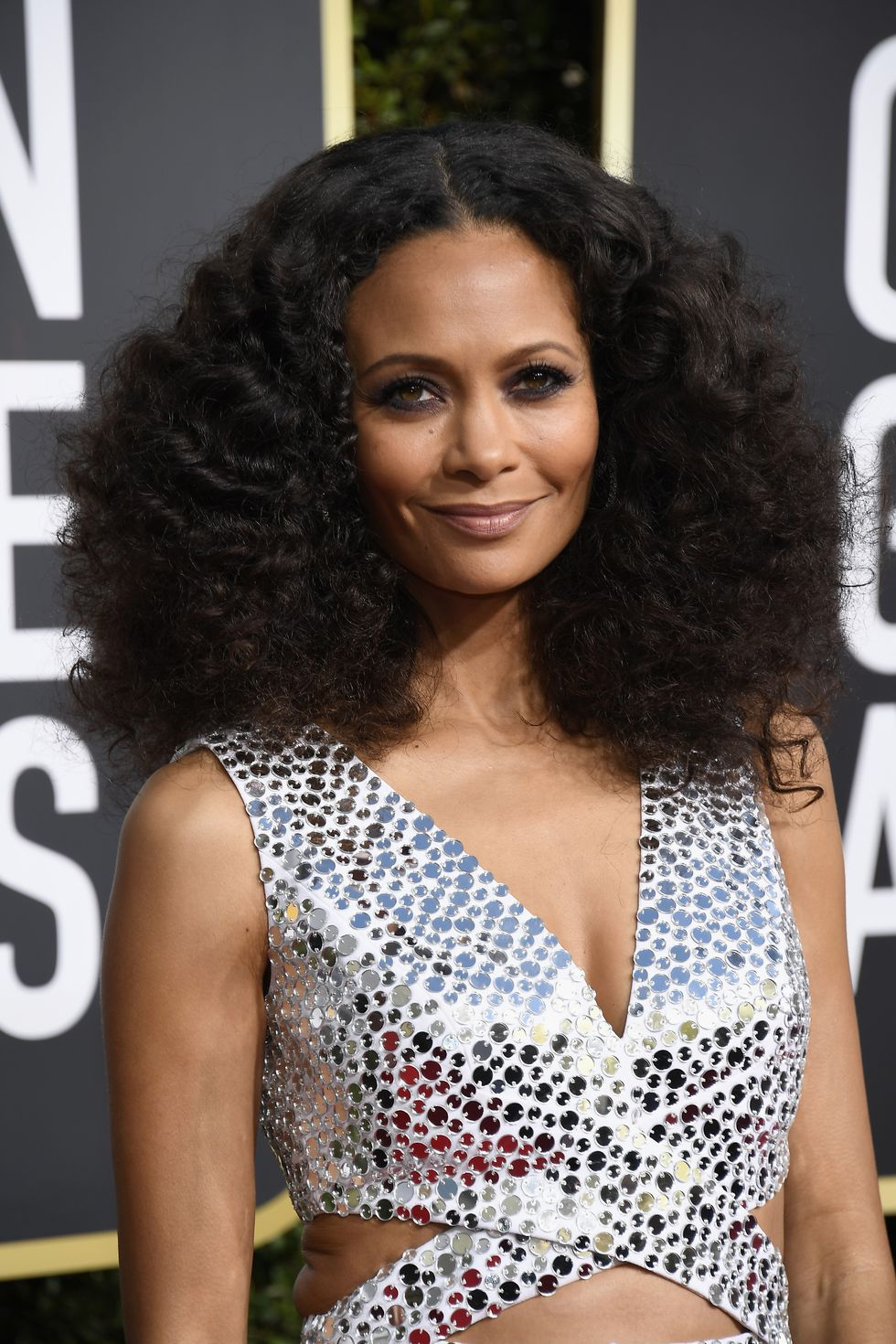 Thandie Newton Golden Globes 2019 hair