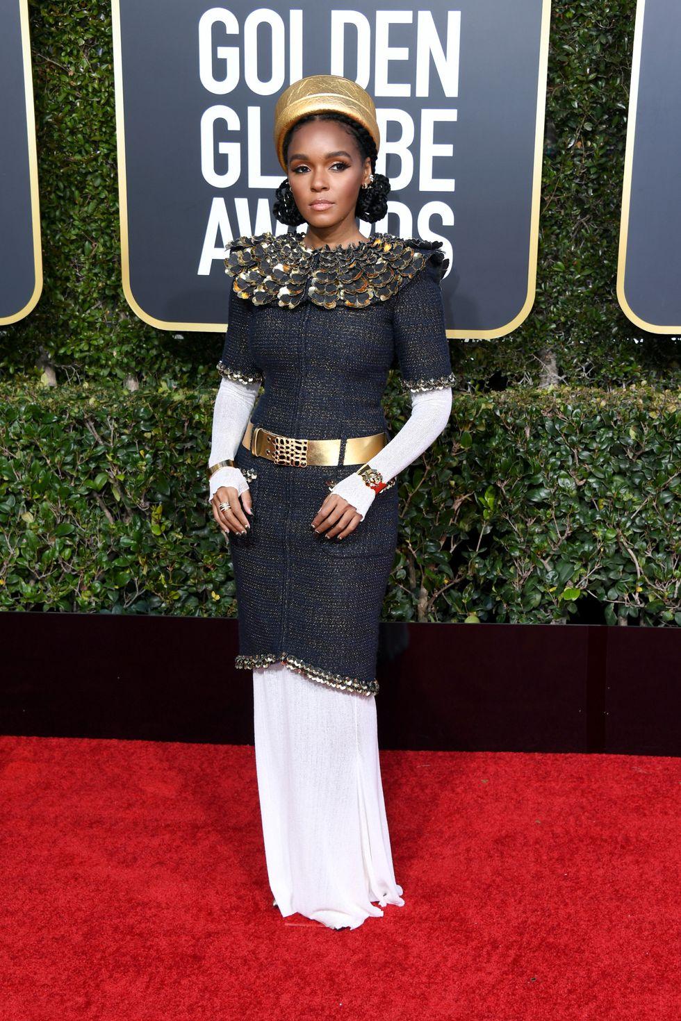 Janelle Monae Golden Globes 2019 dress