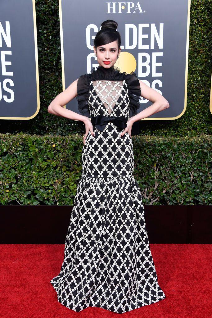 Sofia Carson Golden Globes 2019 dress