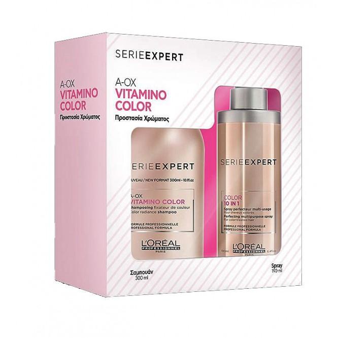 L'Oreal Professionnel Vitamino Color Offer (Shampoo 300Ml + 10 In 1 190Ml)