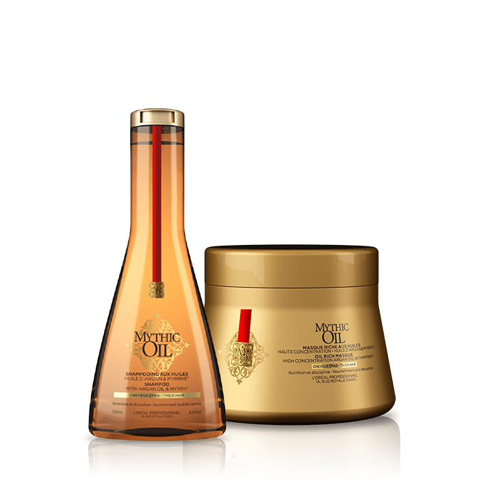 L'Oreal Professionnel Mythic Oil Offer ( Σαμπουάν για χοντρά μαλλιά 250ml + Μάσκα για χοντρά μαλλιά 200ml)