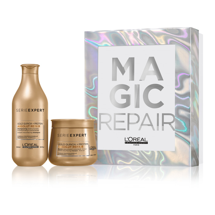 L'Oreal Professionnel Absolut Repair Gold Gift Box (Σαμπουάν 300ml+Μάσκα Golden 250ml)