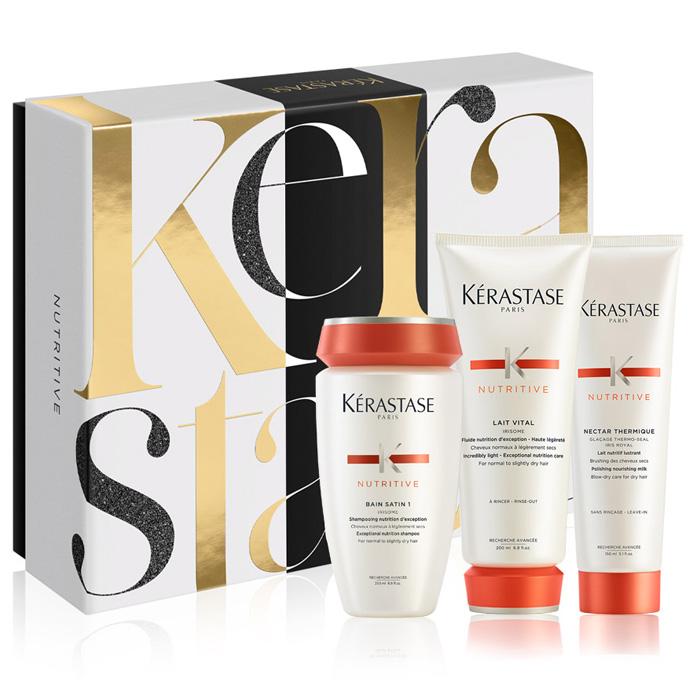 Kerastase Nutritive Gift Box Για Λεπτά Μαλλιά(Σαμπουάν 250ml+Γαλάκτωμα 200ml+Θερμοπροστατευτικό 150ml)