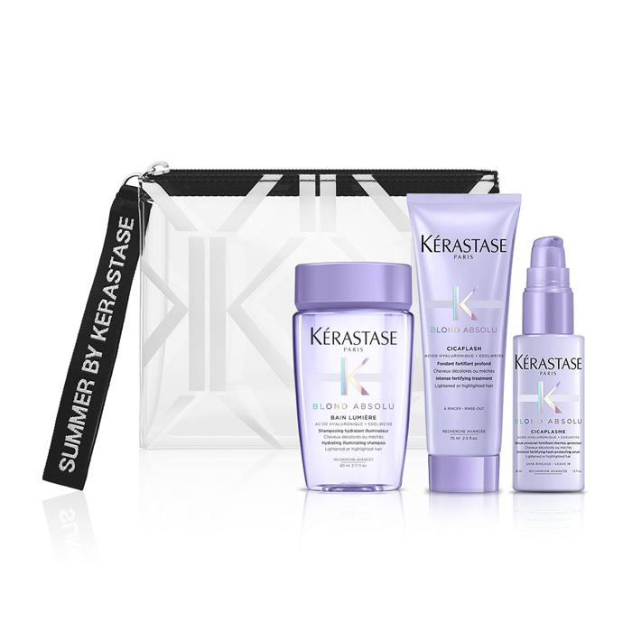 Kerastase Blond Absolu Travel Set(Σαμουάν 80ml+Θεραπεία 75ml+Θερμοπροστατευτικός ορός 45ml)