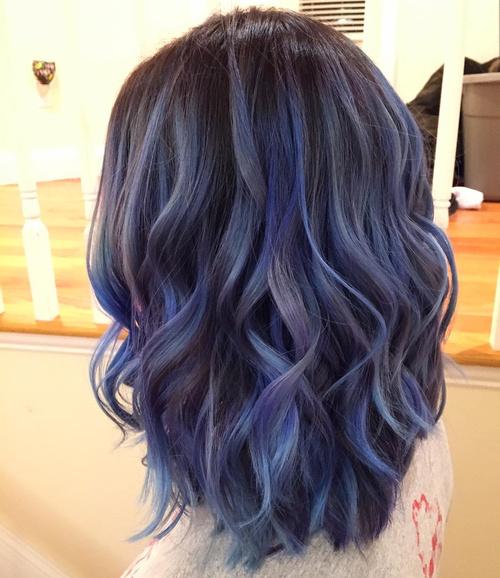 Blue balayage Χρώμα Μαλλιών