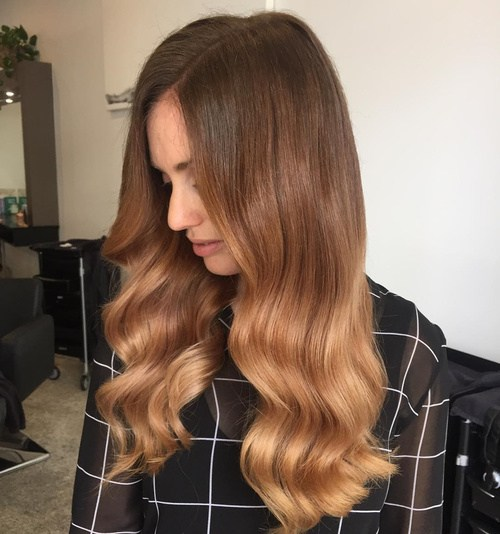 Καστανό Caramel Sombre Χρώμα Μαλλιών