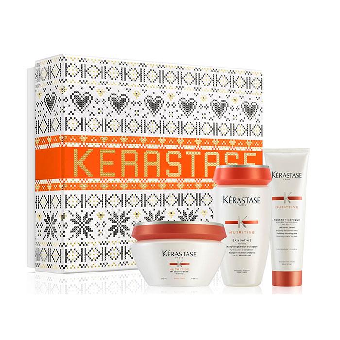 Kerastase Nutritive Gift Box Για Χοντρά Μαλλιά(Σαμπουάν 250ml+μάσκα 200ml+Θερμοπροστατευτικό 150ml)